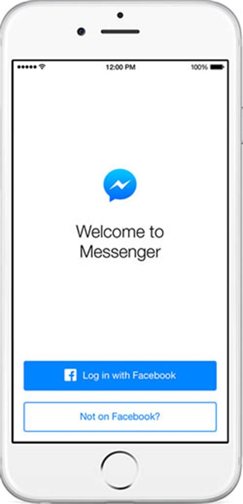 messenger now works even without a account