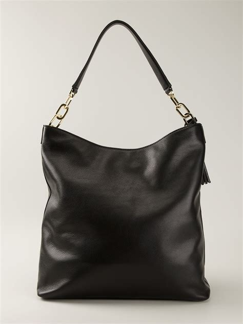lyst tory burch thea hobo bag  black