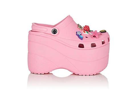 balenciaga platform crocs in pink and hypebeast