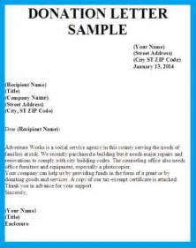 Sample donation request letter to a companybusiness letter examples