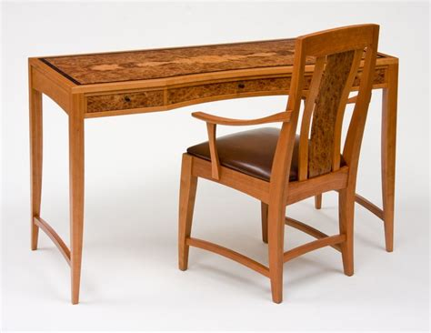 writing desk and chair handmade cherry and carpathian elm desk writing desk and