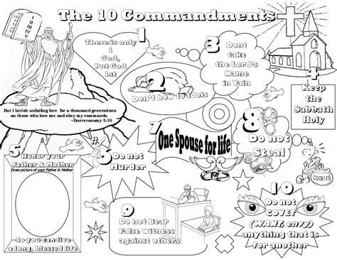 printable coloring pages ten commandments kindergarten ten commandments coloring pages az coloring