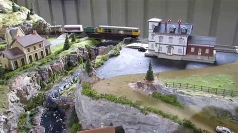 L Shaped House Plans by 8 X 4 Foot Ho Scale Model Train Layout Modified River