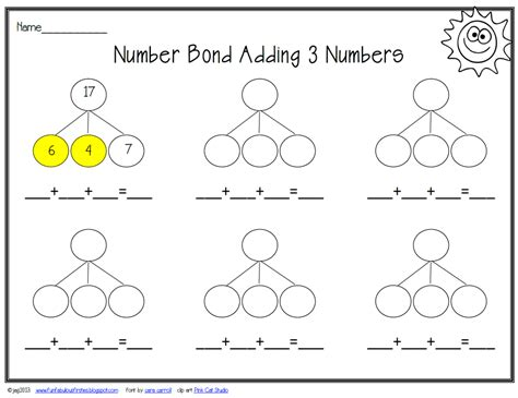 number bond template number bonds search results calendar 2015