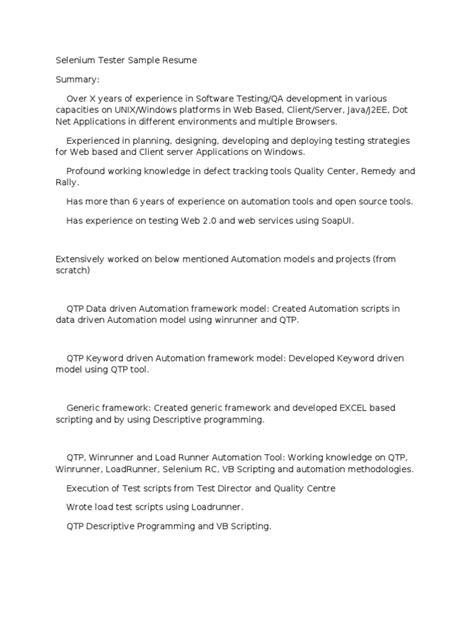 epub qtp testing experience resume