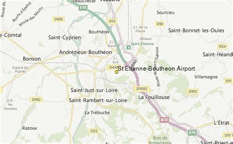 etienne map st etienne boutheon airport weather station record