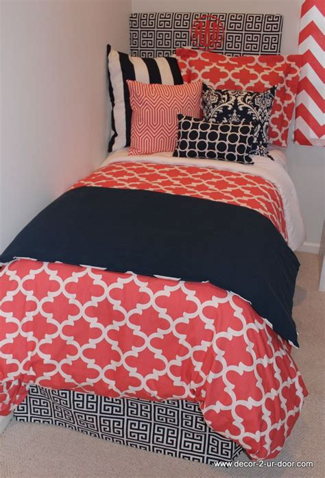navy and coral comforter 1000 ideas about quatrefoil bedding on pinterest