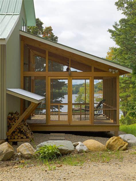 Upholstery Vermont Vermont Lake House Rustic Porch Burlington By Jean