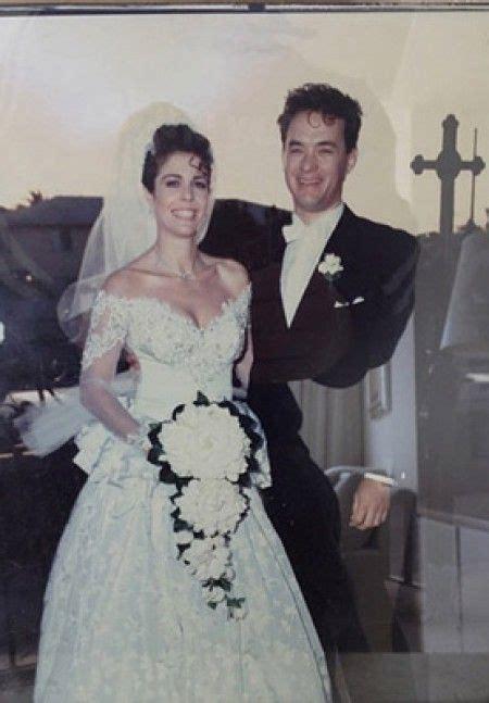 hollywood actress wedding photos tom hanks rita wilson 1988 celebrities pinterest