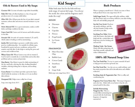 brochure s handmade soap
