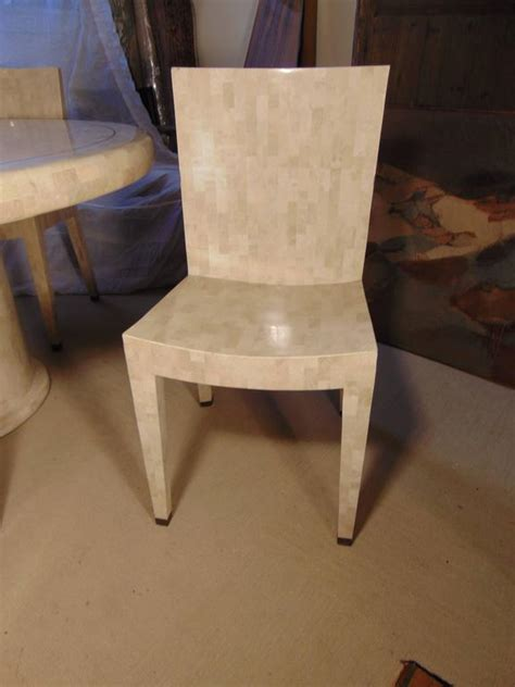 maitland smith table chairs tessellated marble dining table and four chairs by