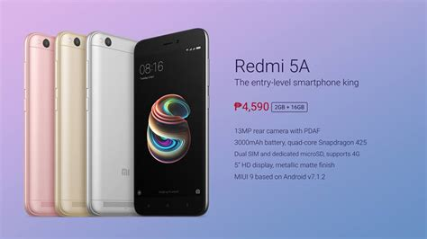 Xiaomi Redmi 5a By Rizky Store redmi 5a unveiled in the philippines for php 4 590