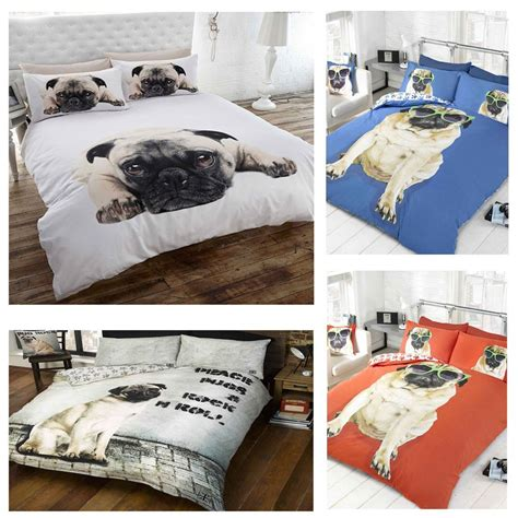 pug bedspread pug design duvet cover sets in single and