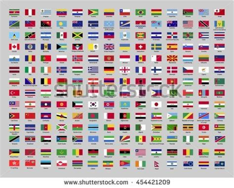 flags of the world lyrics flags world name country vector illustration stock vector