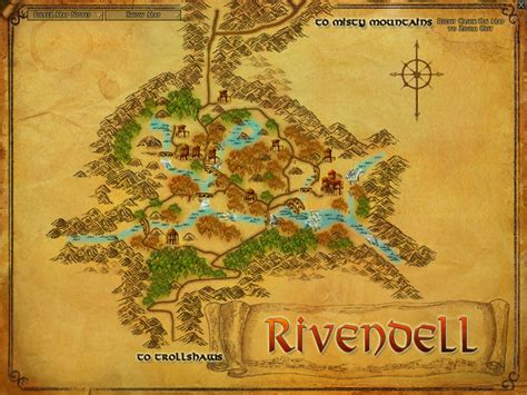 lord of the rings middle earth map rivendell zones lord of the rings zam