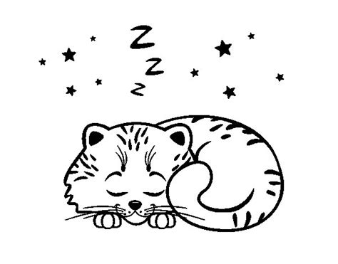 sleepy cat coloring page sleeping cat coloring pages