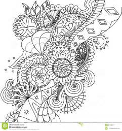 mandala flowers for coloring book for adults or background