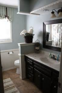 Blue Gray Bathroom Ideas Blue Gray Walls And Espresso Cabinets Master Bath Ideas