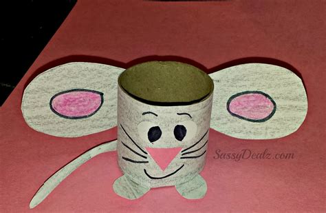 Mouse Paper Craft - easy mouse toilet paper roll craft for crafty morning
