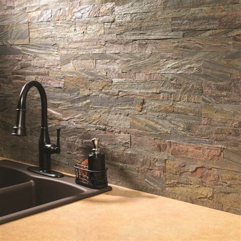 Kitchen Backsplash Stone Tiles self adhesive backsplash kitchen tile panels real stone