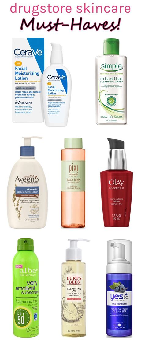 the best skincare products the best drugstore skincare products for dry sensitive