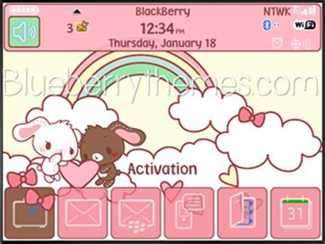 cute themes for blackberry 9320 cute sugar bunnies for blackberry 97xx 9650 themes free