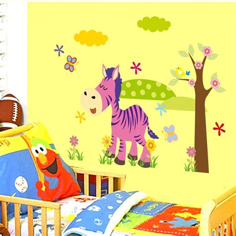 colorful wall stickers elephant giraffe colorful wall stickers vinyl decals baby room decor pf in wall