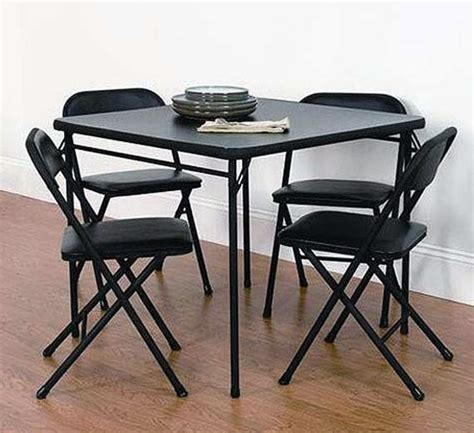 5 folding table and chairs ayanahouse