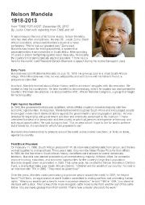 nelson mandela biography in simple english english exercises nelson mandelas biography
