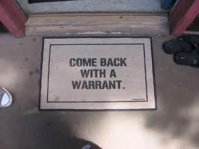 Warrant Doormat The 4th Amendment Amp Search Warrants Pennsylvania