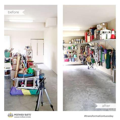 Garage Storage Monkey Bars I Used Monkey Bar Storage Shelving To Get Everything Up