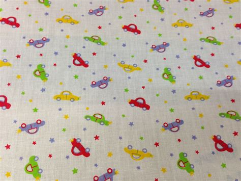 fabric crafts for children cotton children s fabric car print 44 quot wide