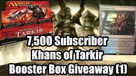 Mtg Booster Box Giveaway - 7 500 subscriber khans of tarkir booster box giveaway foil fetchlands sarkhan 1