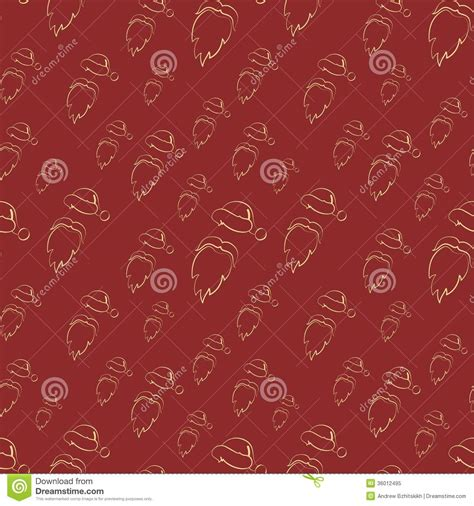 pattern background flat seamless vector santa claus pattern or background royalty