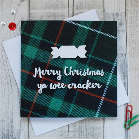 funny scottish christmas cards  hiya pal notonthehighstreetcom