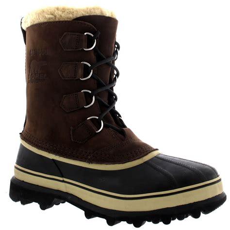 snow boots for uk mens sorel caribou winter snow waterproof fleece lined mid