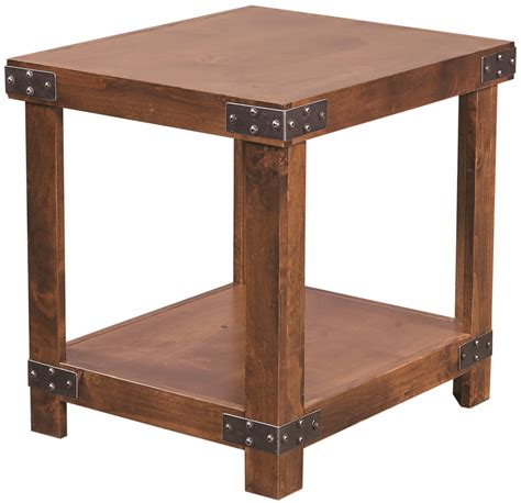 industrial end table aspenhome industrial end table with shelf wayside