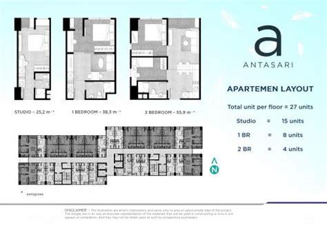 layout apartemen kalibata apartemen the forty five antasari cbd simatupang citos