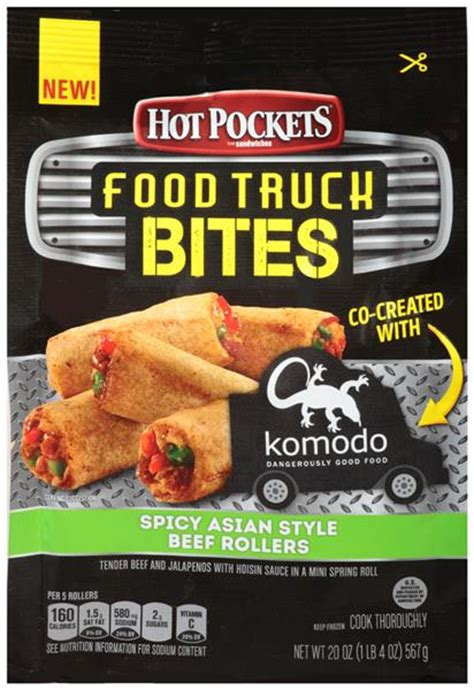 hot pockets food truck bites spicy asian style beef