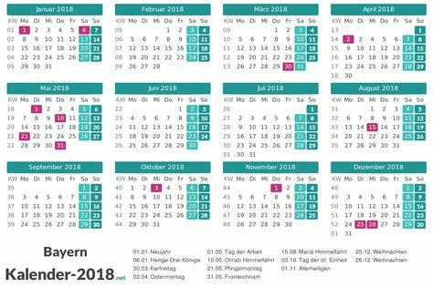 Kalender 2018 Ferien Und Feiertage Bayern Feiertage Bayern 2018