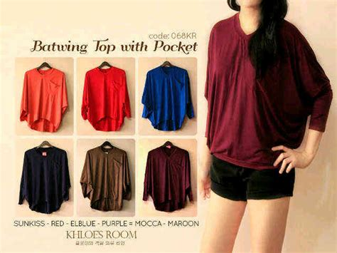 Blouse Cape Batwing Top Baju Muslim 3 capria outlet batwing blouse top with pocket