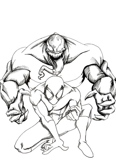 free coloring pages of marvel venom