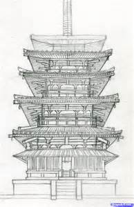 How To Draw Building How To Draw A Pagoda Japanese Pagoda Step By Step