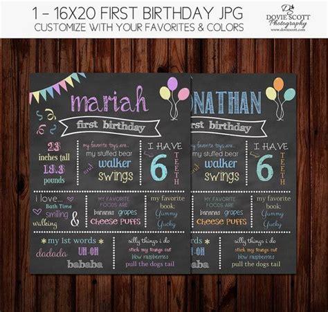 birthday chalkboard poster template birthday chalkboard of favorite things template 16x20