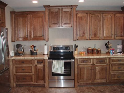 Cheap Backsplash For Kitchen by Backer S Woodworking Hickory Cabinets With Granicrete