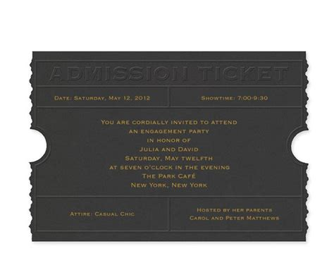 Admission Ticket Invitation Template by Admission Ticket Invitation Template