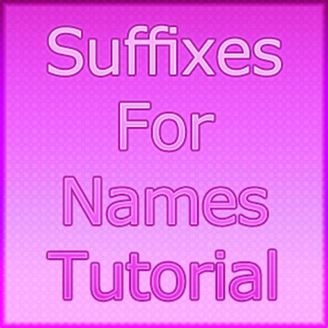 what does the suffix genesis suffix name japanese