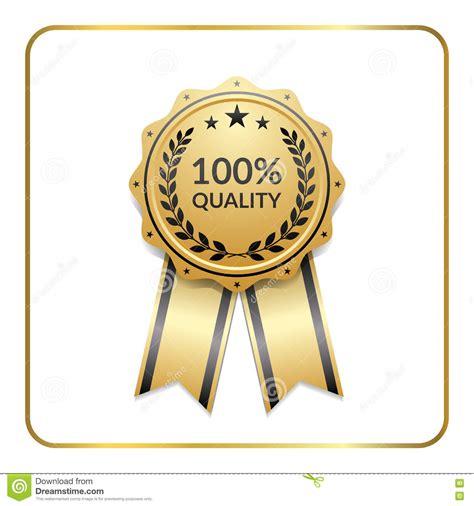 award ribbon gold icon laurel wreath quality stock vector image 72749690