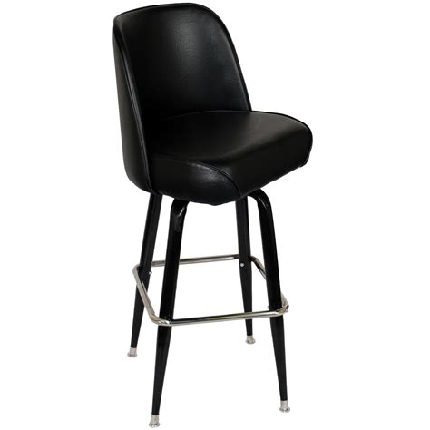Black Swivel Bar Stool Swivel Bar Stool With Black Coated Frame