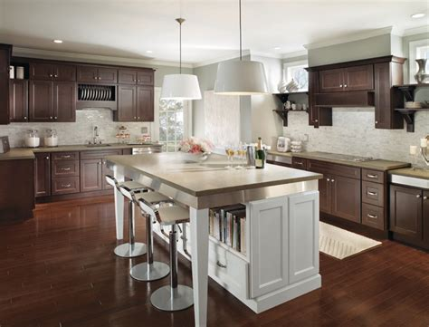 brown and white kitchen cabinets dark brown kitchen cabinets with white island 3382 home